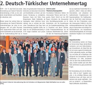 2. Deutsch Türkischer Unternehmertag_April 2015
